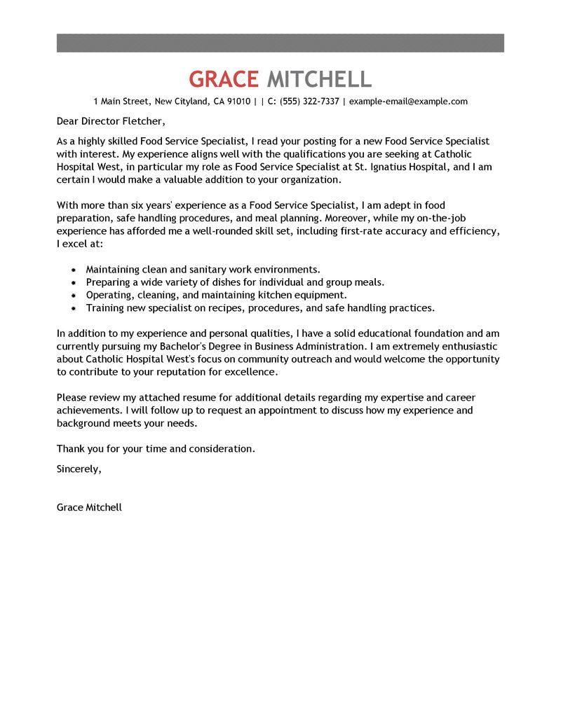 documentation specialist cover letter