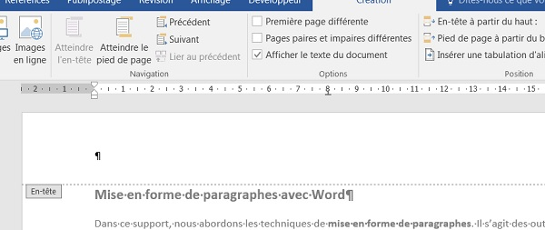 mise en page document word