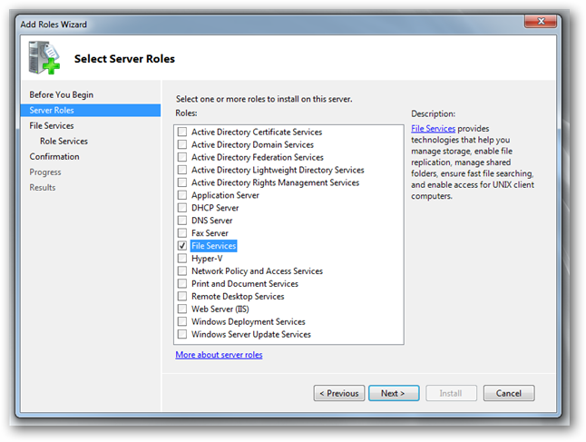 print and document services role server 2008 r2