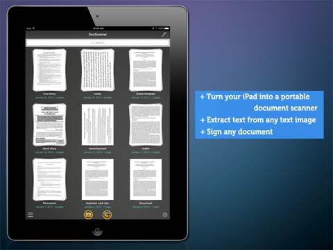 how to scan a document on ipad