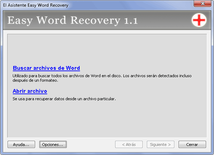 easy recovery of word document