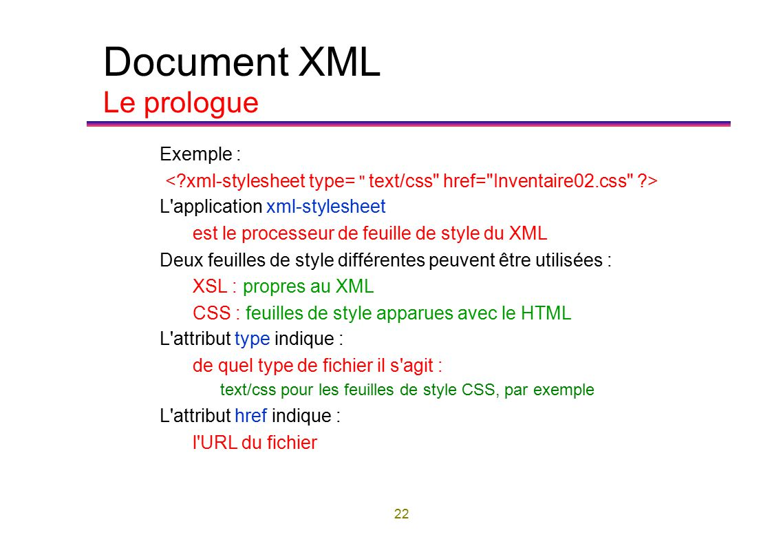document type declaration in xml