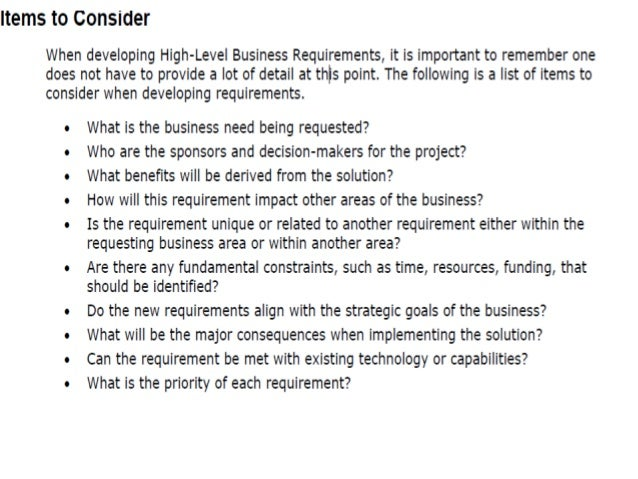 business requirements document non functional requirements