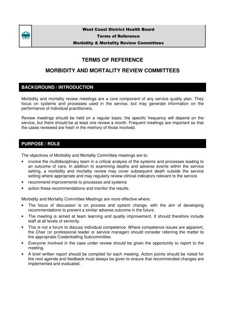 what is a terms of reference document