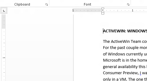 how to change dimension to inch in word document