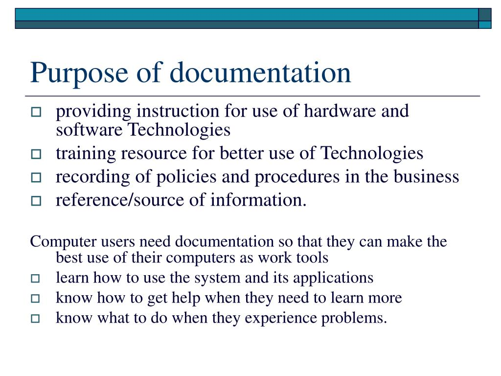 how to create technical documentation