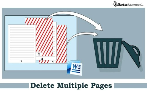 how to delete one page in word document