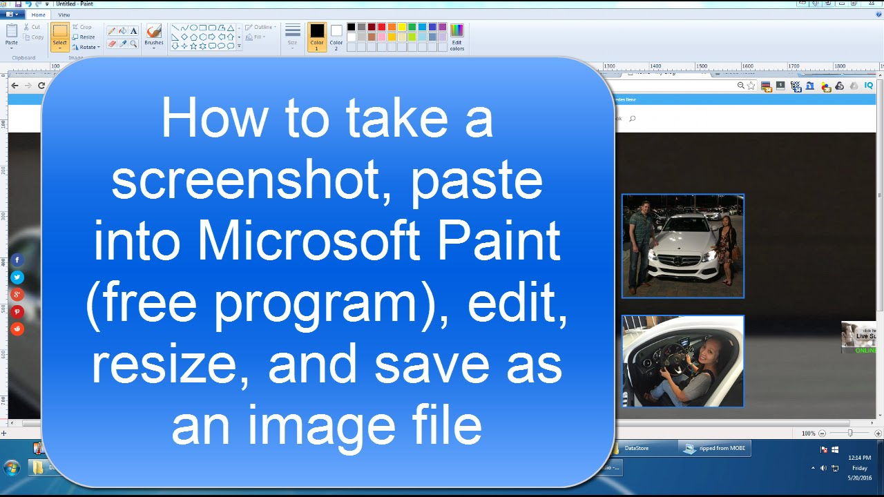 how to edit document in paint
