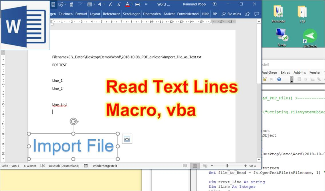 how to read macros in word document