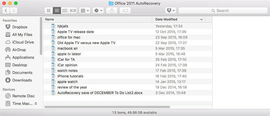 how to recover deleted word document on mac 2011