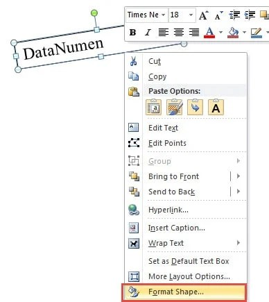 how to rotate the word document