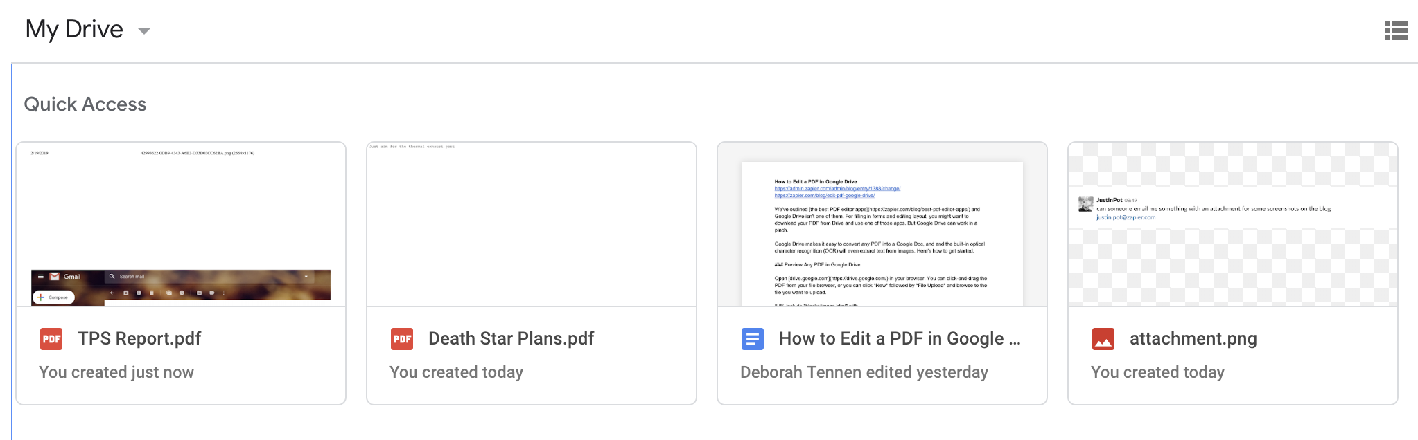 how to send google drive document as attachment