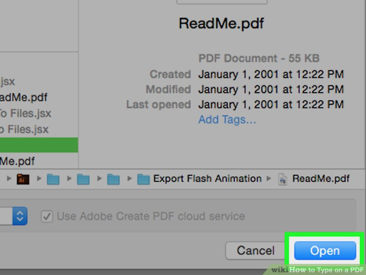 how to type on a pdf document using adobe reader