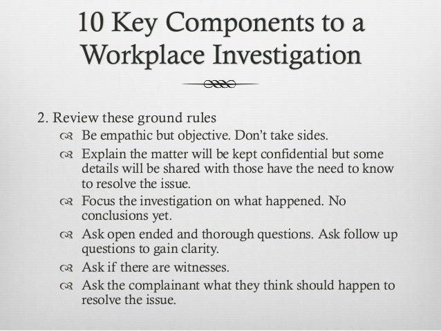 hr guide to workplace investigations documentation