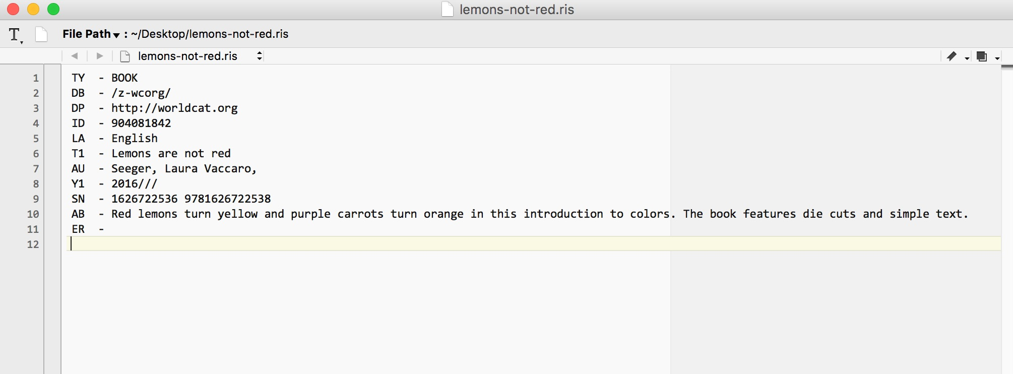 import file to create a latex document