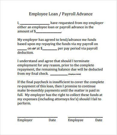 legal personal loan document template