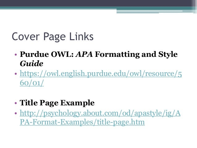 link in document apa style