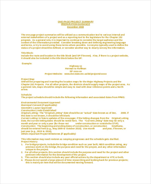 make word document one page