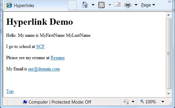 microsoft word 2010 hyperlink within document