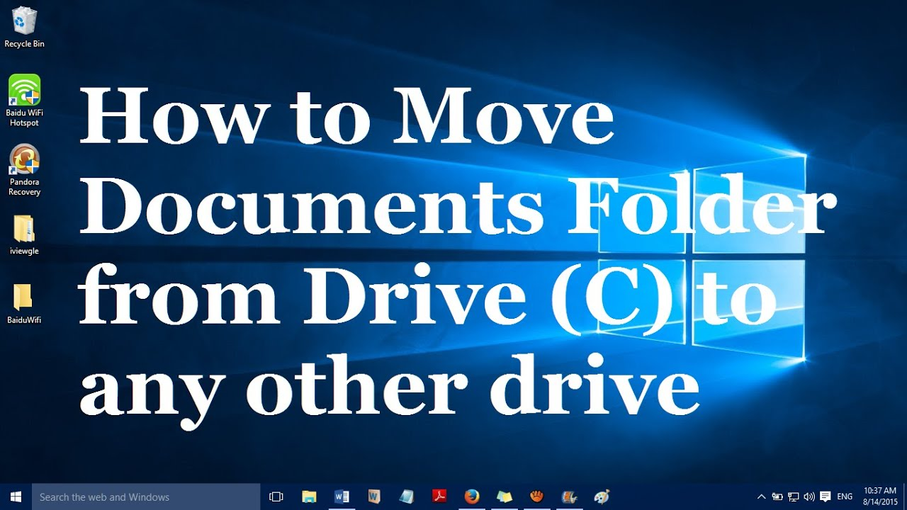 move document and setting to another drive
