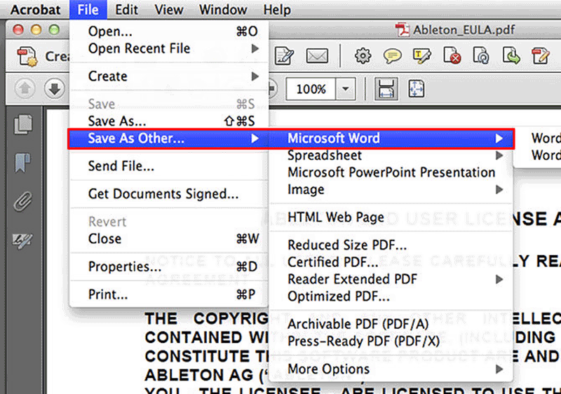 online pdf to word document converter