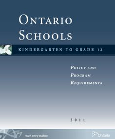 ontario ministry of education mental health document
