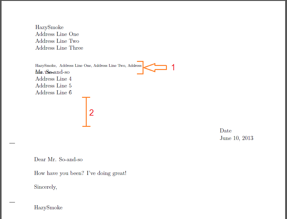 proper spacing in a 1.5 line document