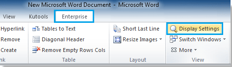 remove markup from word document