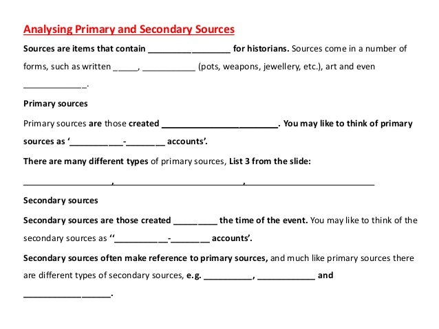 what kind of sources is a translated primary document