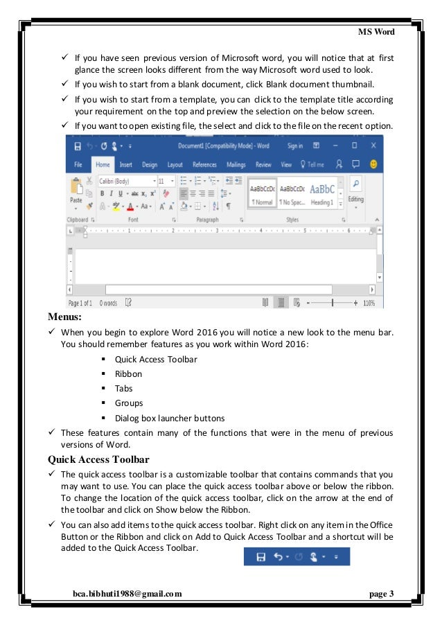 word 2016 automatically open blank document